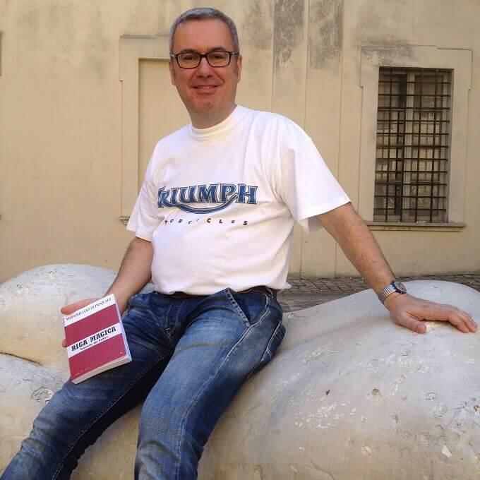 """Massimiliano Di Pasquale a Pesaro con il suo libro """"Riga magica"""""""