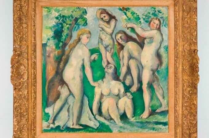 """una contraffazione dei """"Cinque bagnanti"""" di Cézanne"""