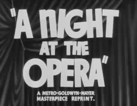 """Una notte all'opera"" di Sam Wood con i Fratelli Marx"