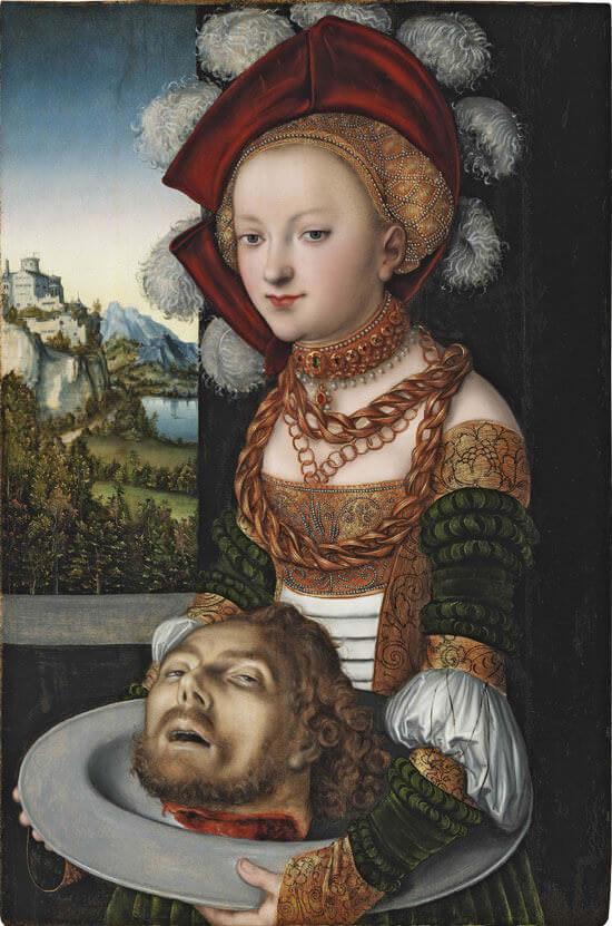 Lucas Cranach il Vecchio, Salomè con la testa di San Giovanni Battista