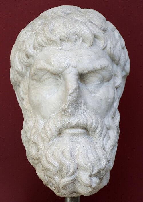Epicuro, copia romana di un originale greco (conservata al Museo Nazionale Romano
