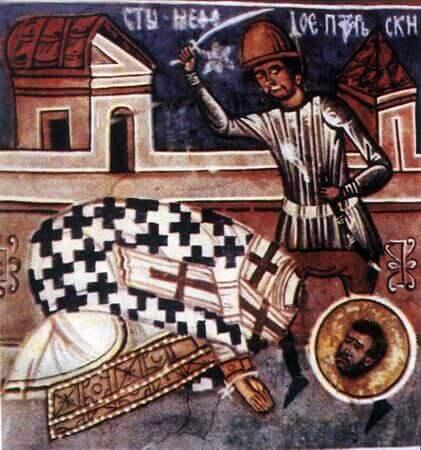il martirio di san Metodio di Olimpo
