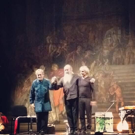 Jordi Savall a Cremona con Pedro Estevan e Dimitri Psonis