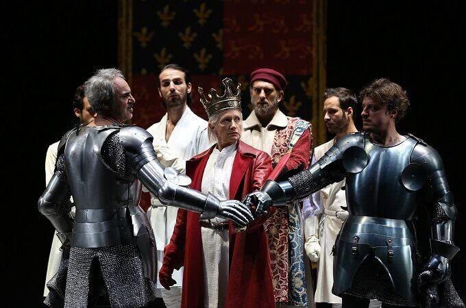 """una scena del """"Richard II"""" per la regia di Peter Stein - foto di Paolo Porto"""