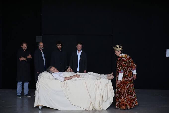 """Un momento delle prove del """"Richard II"""" di Peter Stein"""