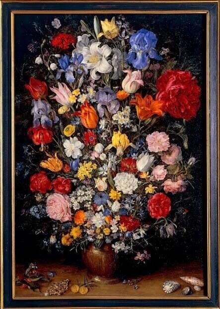 Il Vaso Milanese di Jan Brueghel dei Velluti, dipinto su rame