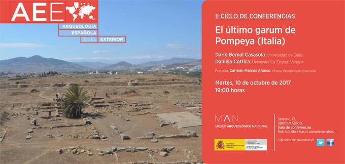 L'invito all'incontro sul garum a Pompei del Museo Archeologico Nazionale di Madrid