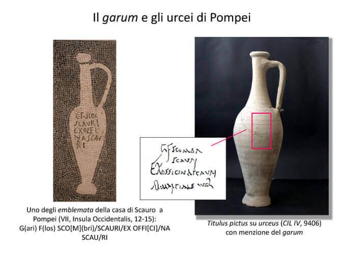 Il garum e gli urcei di Pompei