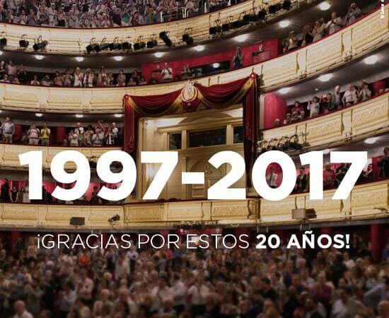 Il Teatro Real di Madrid festeggia 20 anni dalla riapertura come teatro d'opera: 1997-2017