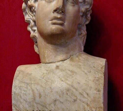 busto di Alcibiade conservato nei Musei Capitolini di Roma