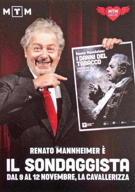 """La cartolina dello spettacolo """"Il sondaggista"""" con Renato Mannheimer"""