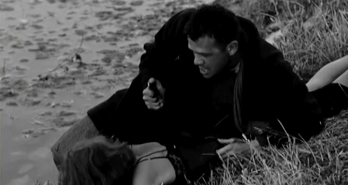 """Renato Salvatori e Annie Girardot nel film """"Rocco e i suoi fratelli"""""""