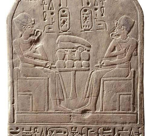 Thutmosi III e Amenofi II sulla stele di Henetneferet
