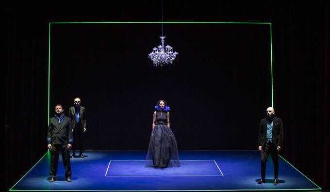 """Una scena del """"Riccardo III"""" di Shakespeare nell'allestimento di Corrado d'Elia"""