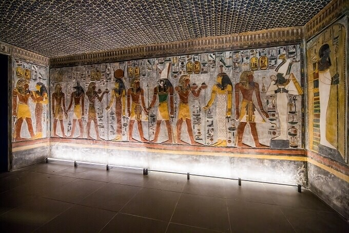 """Un'immagine della mostra """"Scanning Seti"""" all'Antikenmuseum di Basilea"""