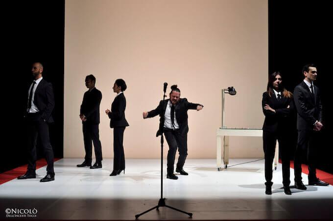 """Una scena del """"Coriolano"""" di Shakespeare per la regia di Marco Plini"""