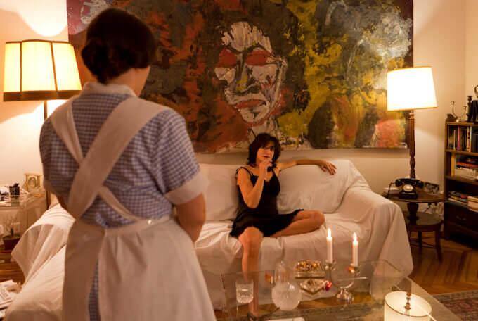 """Una scena dello spettacolo """"Magnani aperta"""" di e con Arantxa de Juan (foto di Gonzalo Mayoral)"""