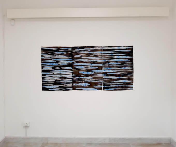 """Un'opera di Ennio Tamburi esposta nella mostra """"Continuum"""" al Cimitero Acattolico di Roma"""