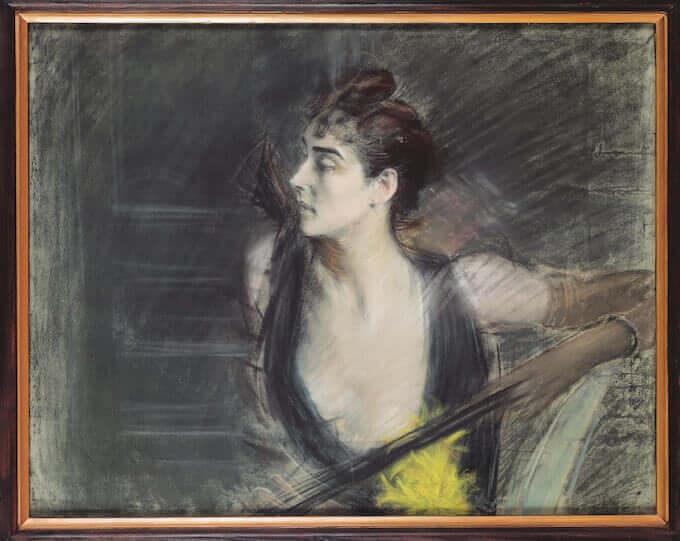 Giovanni Boldini, Madame X, la cognata di Helleu (1885-90). Ferrara, Museo Giovanni Boldini © Gallerie d'Arte Moderna e Contemporanea, foto Luca Gavagna