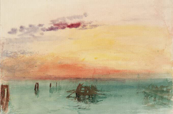 Joseph Mallord William Turner, Venice: Looking across the Lagoon at Sunset, Tate: Accepted by the nation as part of the Turner Bequest 1856