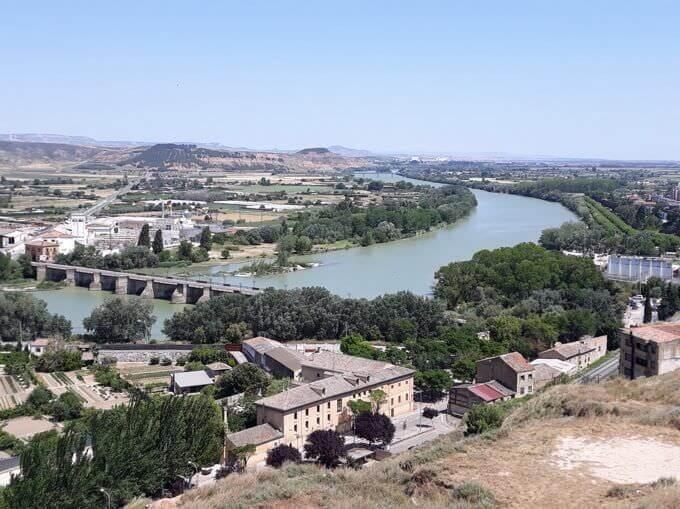 Il fiume Ebro a Calahorra