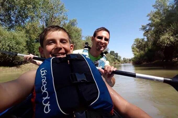 Discesa in canoa del fiume Ebro