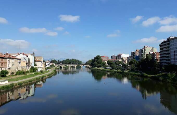 Il fiume Ebro all'altezza di Miranda de Ebro