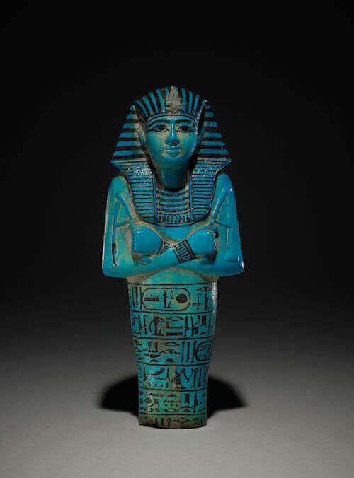 Ushabti del faraone Seti I in faience azzurra, circa 1294-1279 a. C. - Tomba di Seti I, Valle dei Re, Tebe, Egitto © Trustees of the British Museum