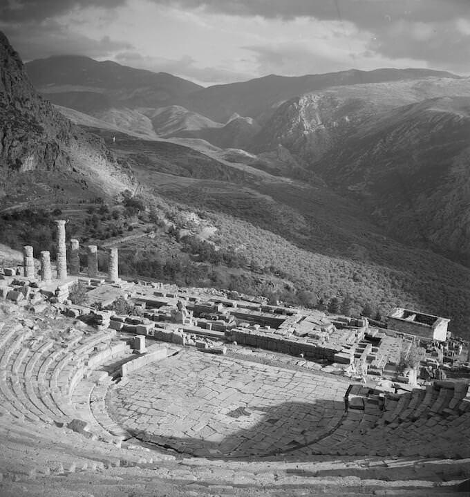 Joan Leigh Fermor, Delphi - National Library of Scotland, Joan Leigh Fermor Photographic Collection, Edinburgh © Joan Leigh Fermor Estate