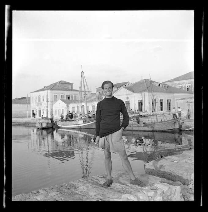 Joan Leigh Fermor, Patrick Leigh Fermor at Lixouri, Cephalonia, 1946 - National Library of Scotland, Joan Leigh Fermor Photographic Collection, Edinburgh © Joan Leigh Fermor Estate