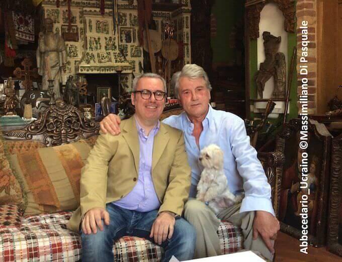 Massimiliano Di Pasquale con l'ex presidente ucraino Yushchenko