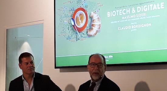 """Massimo Sideri e Claudio Bordignon per """"Colazioni Digitali"""" nella sede di Sorgenia a Milano"""