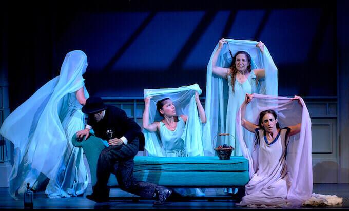 "Una scena della commedia ""La dama duende"" di Calderón de la Barca"