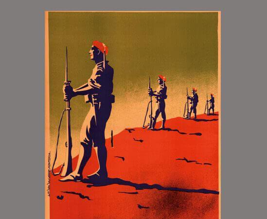 Laurie Lee, Un momento di guerra, Adelphi: particolare della copertina