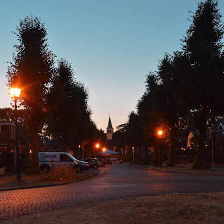 Il campanile di Oudemirdum in Frisia, Olanda