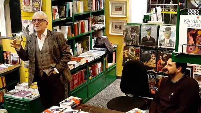 Gian Piero Piretto con Max Collini alla Libreria Cortina di Milano