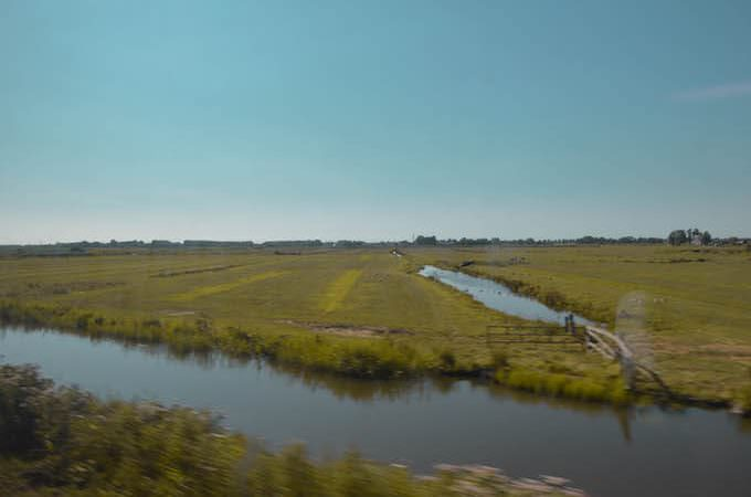 In treno da Hoorn a Enkhuizen in Olanda