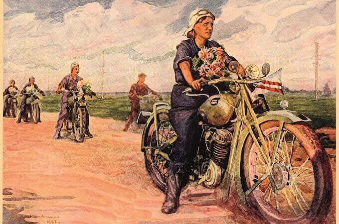 Corsa motociclistica delle mogli degli ingegneri, 1937, URSS