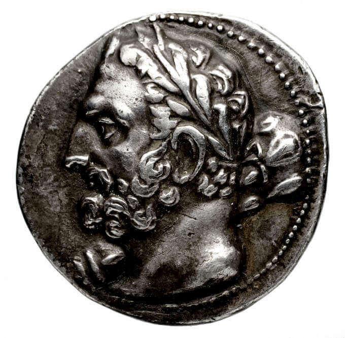 Moneta con ritratto di Amilcare, 148-118 a.C. Bronzo. Bibliothèque Nationale de France, Parigi