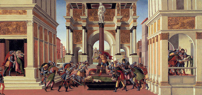 Sandro Botticelli, Storia di Lucrezia, Isabella Stewart Gardner Museum, Boston
