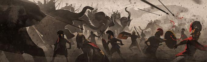 Illustrazione di Giovanni Maisto: Battaglia della Trebbia. Art Direction TWOSHOT e Gli Orsi Studio