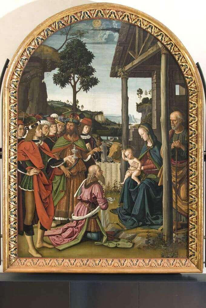 Pietro Vannucci detto il Perugino, Adorazione dei Magi, Galleria Nazionale dell'Umbria, Perugia
