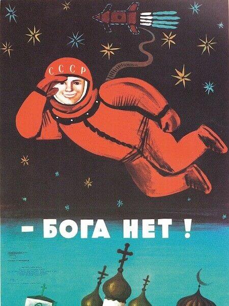 """Manifesto sovietico del 1961: """"Dio non c'è"""""""