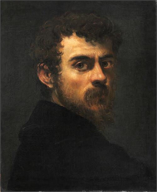Tintoretto, Autoritratto, 1546 - 1547 circa. Philadelphia Museum of Art