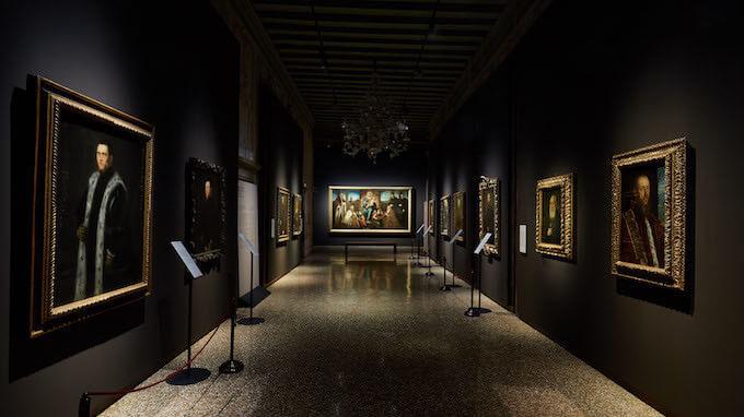La galleria dei ritratti nella mostra di Tintoretto al Palazzo Ducale di Venezia