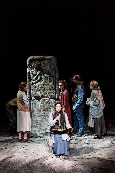 """Una scena di """"Antigone"""" per la regia di Gigi Dall'Aglio"""