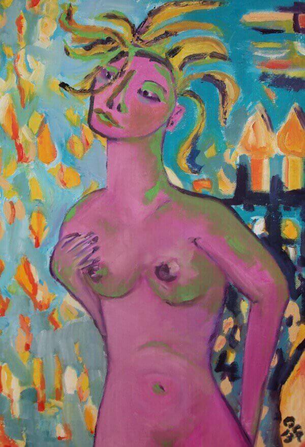 Un'opera dell'artista Costanza Zappa