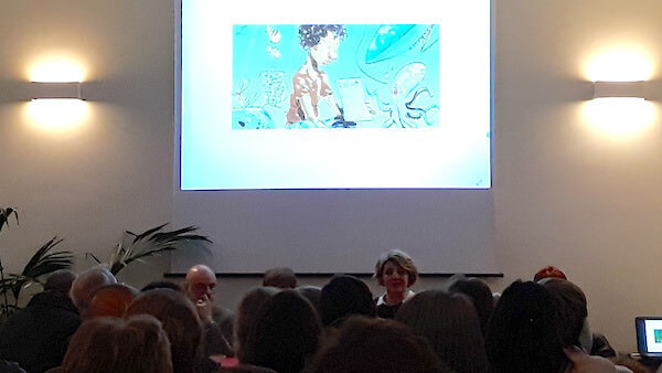"""Cristina Cattaneo presenta il suo libro """"Naufraghi senza volto"""" alla Comunità di Sant'Egidio a Milano"""