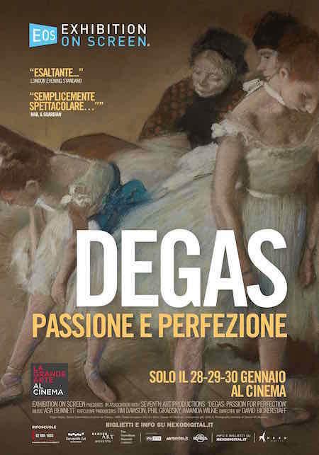 """Il poster del docu-film """"Degas. Passione e perfezione"""""""