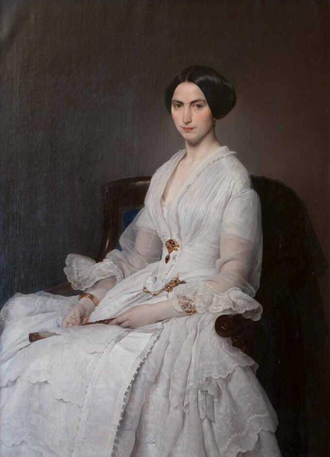 Francesco Hayez, Ritratto di Selene Taccioli Ruga (1852). Collezione privata